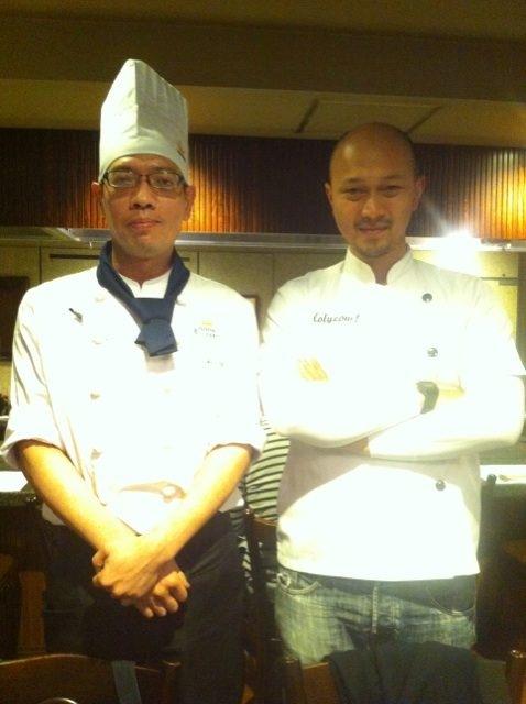 Abis makan Kobe Beef, Afit nyempetin foto sama Chef nya