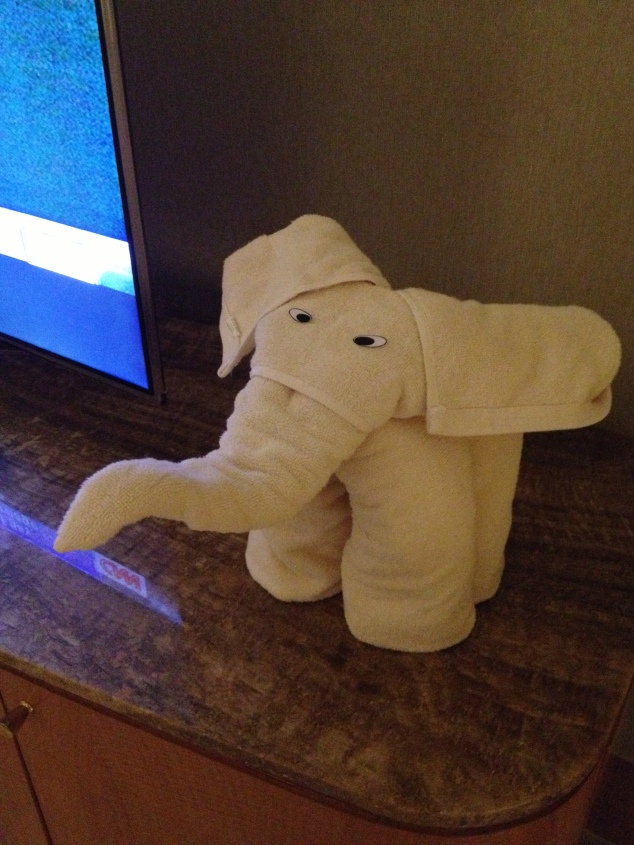 The Elephant Towel To Greet The Kids